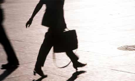 A businesswoman in formal workwear