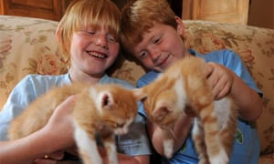 James Medd's sons Alfie and Louis: Redheads and proud