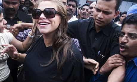 Jade Goody arrives at Mumbai airport