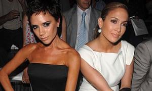 Victoria Beckham and Jennifer Lopez at New York fashion week