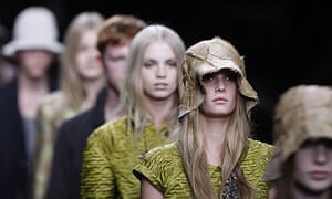 The Burberry show at Milan fashion week