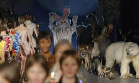 Alexander McQueen appears dressed as a rabbit
