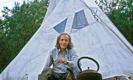 Rik Mayes and his tepee