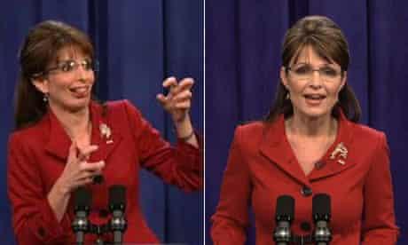 Sarah Palin and Tina Fey composite