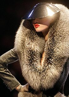 Givenchy fox fur coat