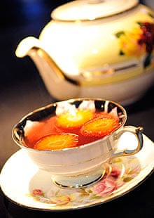 Cocktail in a teacup