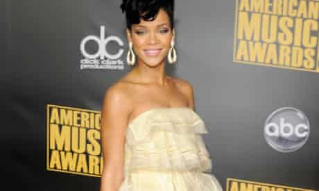 Rihanna with Statement Earrings