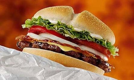 A burger from Burger King