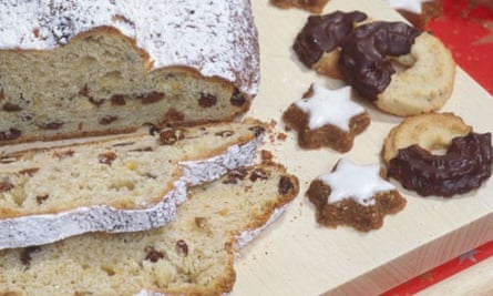 Christmas stollen and biscuits