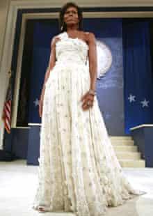 Michelle Obama wearing Jason Wu at the Inaugural Ball