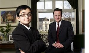 David Cameron with kid