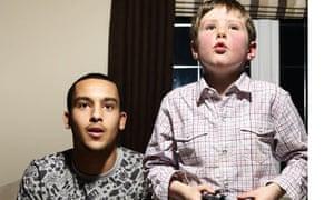 Theo Walcott with kid