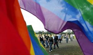 Lesbians at Mardi Gras celebrations in London