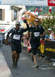 Duncan Craig at the finish line of the Ultra-Trail du Mont Blanc