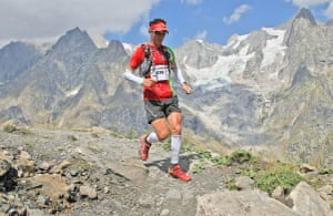 Race gallery: A lone runner at the Ultra-Trail Mont Blanc
