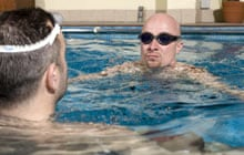 Ben Field swimming