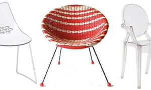 Three of the 50 chairs that changed the world