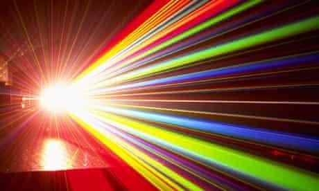 Split laser beam