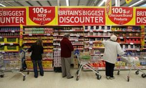 Shoppers at Tesco in Cambridge