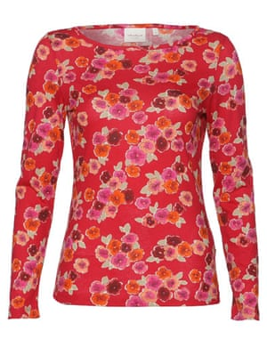 Ascension gallery: Long-sleeved floral top by Jackpot