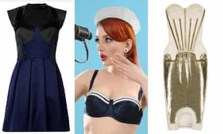 French Connection's Dreamer dress, whatkatydid.com's sailor bra and Richard Nicol's corset dress