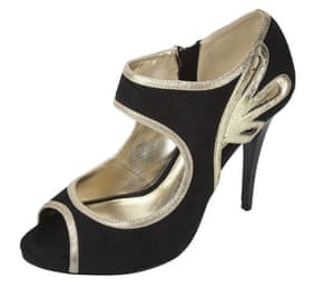Shoes for under £50: Black and gold