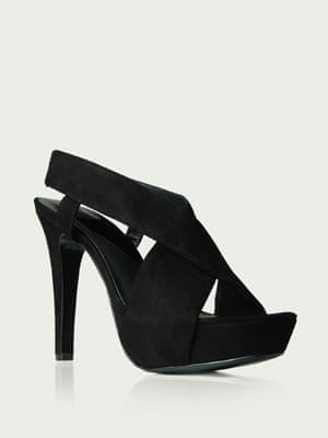 Shoes to blow the budget: Black straps