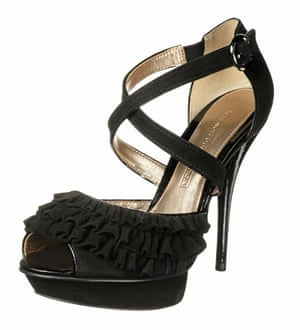 Shoes to blow the budget: Black frill