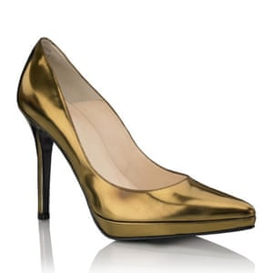 Shoes to blow the budget: Gold shoes