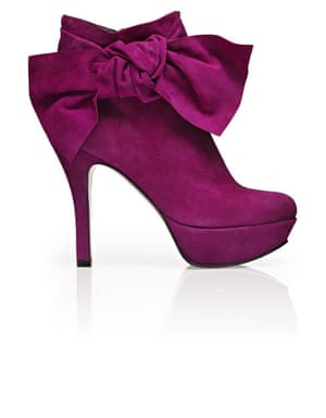 Shoes to blow the budget: Lilac bow