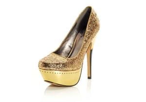 Shoes for under £100: Gold platform