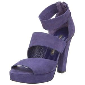 Shoes to blow the budget: Purple platform