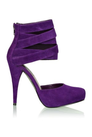 Shoes to blow the budget: Purple shoes