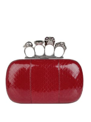 Bags to blow the budget: Red with knuckle-duster clasp