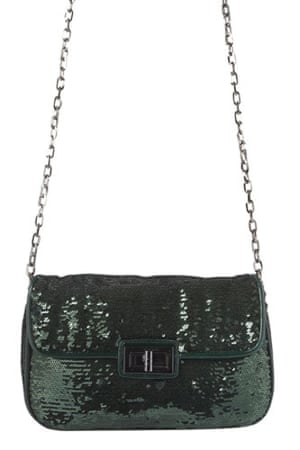 Bags for under £100: Green sequined
