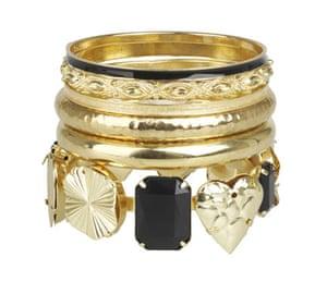 Bracelets: Gold clustered