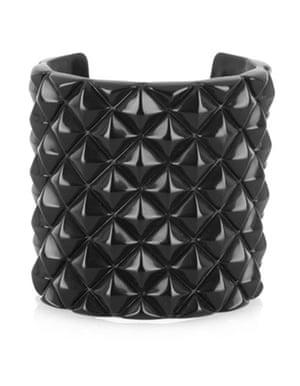 Bracelets: Black resin