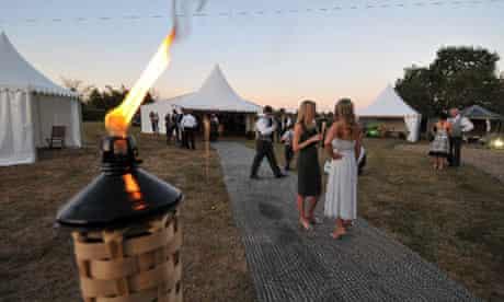 A wedding at Marsh Farm