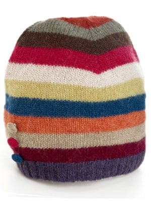 Christmas fashion under10: Poppy stripe hat by Accessorize