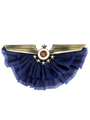 Christmas fashion under10: Frilly airline brooch by Accessorize
