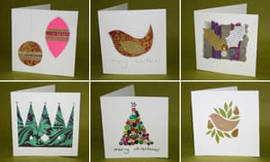 Making Time Diy Christmas Cards Life And Style The Guardian