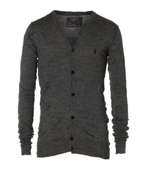 Xmas gifts mens fashion: Grey cardigan by All Saints