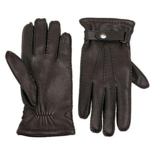 Xmas gifts mens fashion: Leather gloves by Debenhams