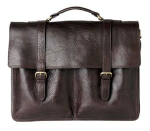 Xmas gifts mens fashion: Leather satchel by Marks and Spencer