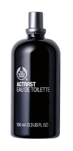 Xmas gifts mens grooming: Activist eau de toilette by The Body Shop