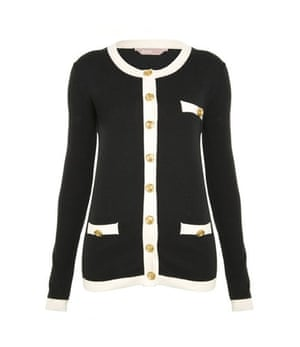 Xmas gifts MID fashion: Black cardigan with gold buttons by A Wear