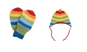 Gifts for babies: Mittens and hat