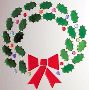 Christmas wreaths: GelGems wreath