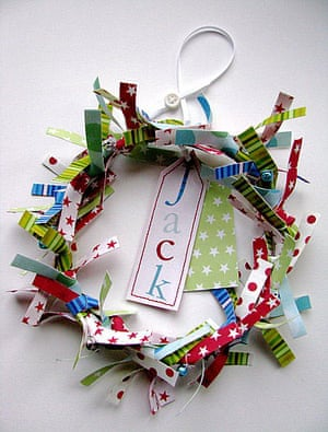 Christmas wreaths: Personalised children's wreath