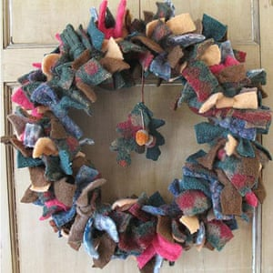 Christmas wreaths: Hand-felted wreath